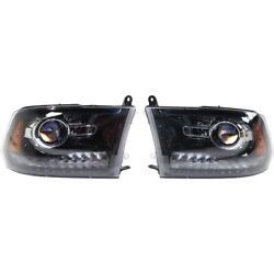 Set Of 2 Headlights Lamps Left-and-right Lh And Rh For Ram 1500 2500 3500 Pair