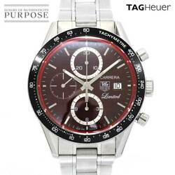 Tag Heuer Carrera Cv2019 Chronograph Menand039s Watch Limited To 200 Date Black Dial