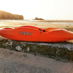 Pre Order June Del Titan Kayaks Mix Sot Playboat With Free Paddle And Thigh Straps