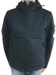 Stone Island Panno R 4l Stretch Mid Length Jacket With Hood 671541832