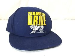 Teamsters Drive Hat Hoffa Two Horse Snapback Cap Nwot Union Usa