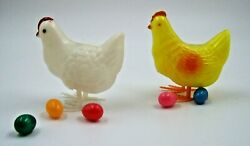 Two Vintage Laying Hens