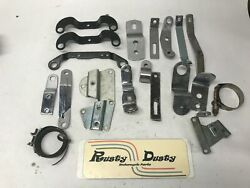 Huge Mixed Lot Of Harley Misc Brackets Clamps Air Breather, Exhaust Sportster