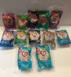 Lot of 12 ty Toy Animals Beanie Babies McDonald#x27;s Happy Meal Toys 1998 Mixed
