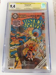 Dc Special 29 Cgc 9.4 Signed By Neal Adams Hitler Cover Origin Jsa