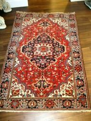 Antique 1910 Ferahan Sar-ouk Small Rug Excellent Condition Great Colors