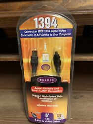 New Belkin Ieee 1394 Fire Wire And Sony I. Link Compatible 6andrsquo / 2m