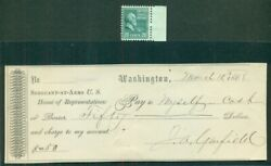 James A. Garfield 20th President Of U.s. Signed Check Dated Mar 10 1868 Vf