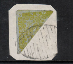 New Brunswick 2b Very Fine Used Scarce Bisect On Piece With Certificate