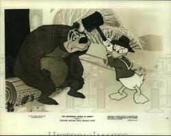 Press Photo Cartoon Characters In Disneyand039s Goofing Around With Donald Duck