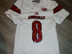 Louisville Cardinals Lamar Jackson Authentic White Game Signed Jersey Xl