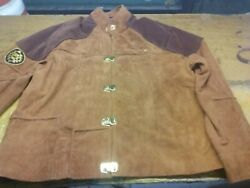 Menand039s Battlestar Galactica Colonial Viper Pilot Brown Suede Real Leather Jacket
