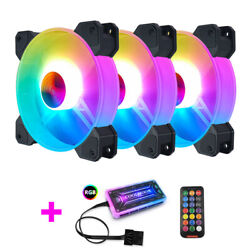 3xcoolmoon F-yh Computer Case Pc Cooling Fan Rgb Adjust 120mm Quiet + Ir Remote