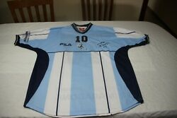 T-shirt Official Hommage Maradona 2001 Row T/xl E Number Picture On 3d Signed