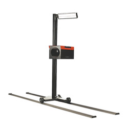 Sealey Headlamp Beam Setter With Rails And Commercial Aiming Screen Garageworkshop