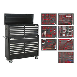 Sealey Superline Pro Tool Chest Combination 23 Drawer-black With 446pc Tool