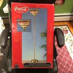 New Coca Cola Style Acrylic Torchiere Floor Lamp Ships Free