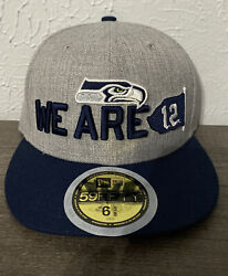 Seattle Seahawks 6 5/8 Kids Hat Cap New Era Youth 59fifty 5950 We Are 12 Nfl