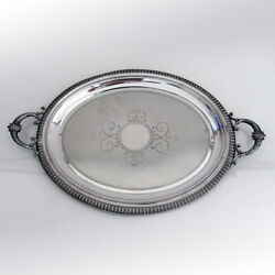 Oval Tray Two Handles Russian 84 Silver Import Marks Riga 1890