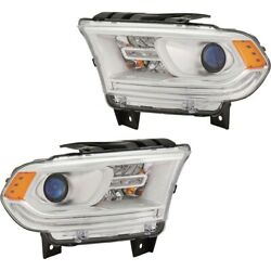 Set Of 2 Headlights Lamps Left-and-right 68299136ad 68299137ad Lh And Rh Pair