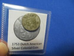 1753 Silver Early American Colonial Coin Before Us Minted Coins Free Shipping