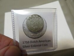 1759 Silver Early American Colonial Coin Before Us Minted Coins Free Shipping