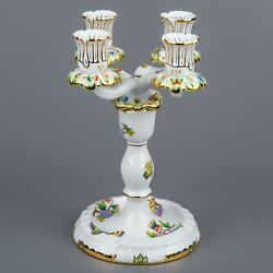Herend Queen Victoria Four Light Candle Holder 7915/vbo