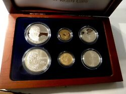 1993 Bill Of Rights 5 1 50c Proof And Unc Gold Silver Clad 6 Coin Set 102