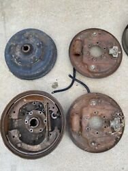 Willys Jeep Front And Rear Brake Drums Backing Plates And Rear Hubs