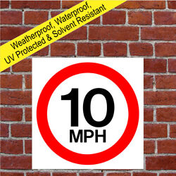 5mph 10mph 15mph 20mph And 30mph Speed Limit Sign Road Safety Awareness 9002