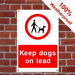 Keep Dogs On Lead Farm Health And Safety Signs Coun0081 Durable And Weatherproof