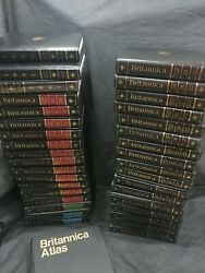 Encyclopedia Britannica 15th Edition Set Padded Leather 1991+ Atlas+ Annuals