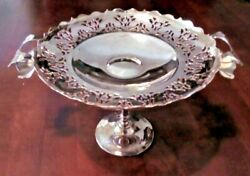 Art Deco Silver Plate Comporttazzafruit Bowlor Cake Stand Exhibit 17cm Tall