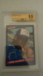 Fred Mcgriff 1986 Donruss Rated Rookie Card Rc Rare Bgs 9.5 Gem Mint