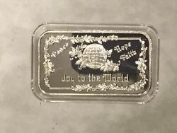 Greathouse Joy To The World Sample Sterling Silver Art Bar Very Rare