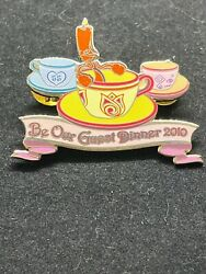 Disney Pin - Be Our Guest Dinner 2010 - Tea Cups Lumiere Beauty And Beast Le 107