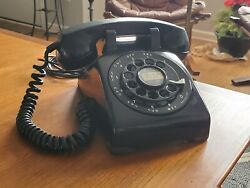 1954 Early Black Western Electric Bell System 500 Desk Phone-restored