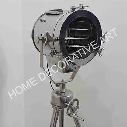 Home Decor Director Style Grill Spotlight With Revolving Tripod Stand Floor Lamp