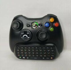 Official Genuine Xbox 360 Wireless Controller Black And Keypad Oem. Tested