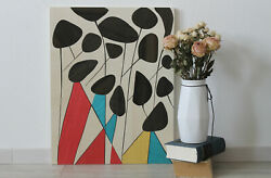 Abstract Flower Wood Wall Art Marquetry Decor Picture Wood Mosaic Wood Inlay