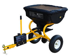 Large Tow Behind Broadcast Spreader Hopper Fertilizer Seed Atv Lawn Tractor Pull