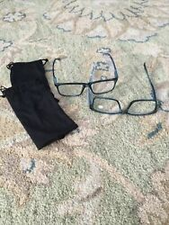 Reading Glasses + 1.75 / 2 Pairs Magnifying Reading Glasses Blue Torti Frames