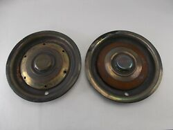 Pair 2 60and039s Era Bentley S2 Continental Flying Spur Hubcap Used