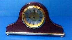 Linden Westminster Mantle Clock - Mahogany - Roman Numerals Great Condition