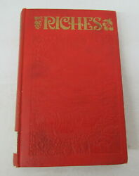 Riches By J. F. Rutherford 1936 Hardcover Illustrated Jehovah Witness 1st Print
