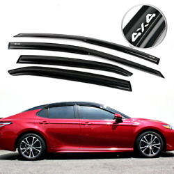 For 18-20 Toyota Camry Window Visors Mugen Style Smoke Vent Guard Acrylic