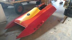 Vintage 9and039 6 Tunnel Boat Project As Is Parts No Boat Motor Wood/fiberglass
