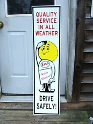 Esso Oil/gasoline Drop Man 1960and039s Style 1and039x46and039and039 Dealer/service Station Sign