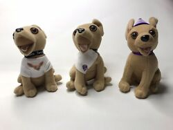 Lot Of 3 Vintage Official Taco Bell Talking Chihuahua Dogs Plush Toys Figures