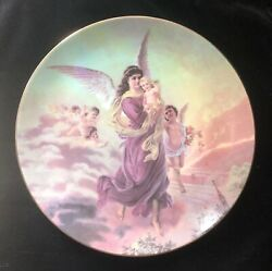 Lefton China Collectors Plate 01357 Angel Holding Baby 1994